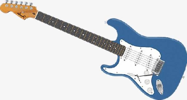Guitare electrique bleu - Prix braderie