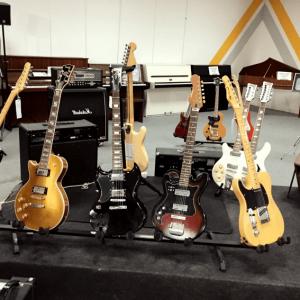Où a été créé la guitare electrique ?